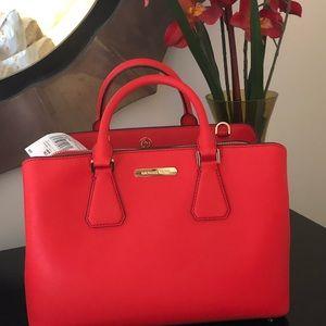 Micheal Kors Red Leather Handbag